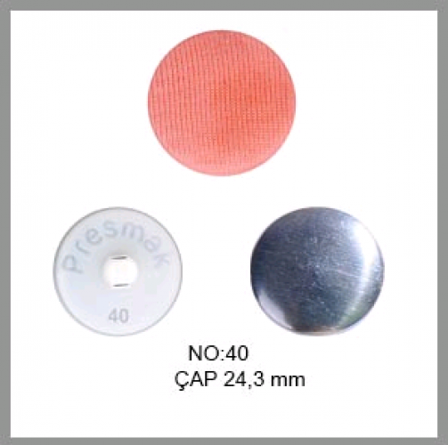 Заготовка для обтяжки пуговиц на пластиковой ножке №40 25мм цв.белый(в упак.250шт)