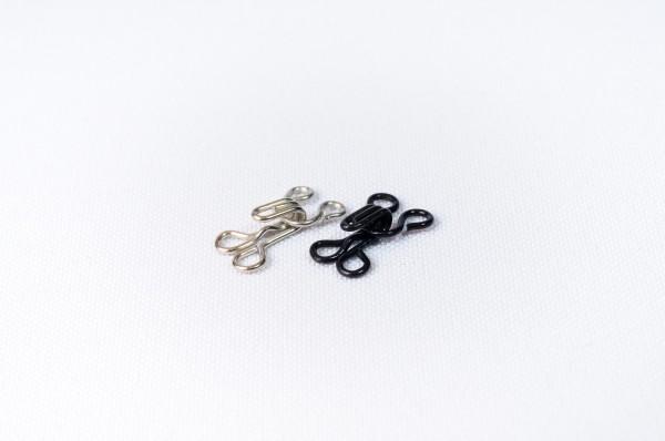 №1 Крючки металлическе пришивные цв.черный(в упак.100шт)