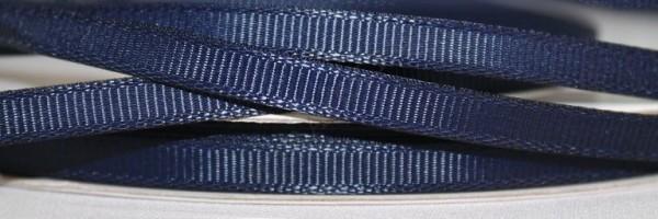 Репсовая лента блестящая 07мм цв.т.синий(в рул.100м)