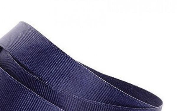 Репсовая лента блестящая 15мм цв.т.синий(в рул.100м)