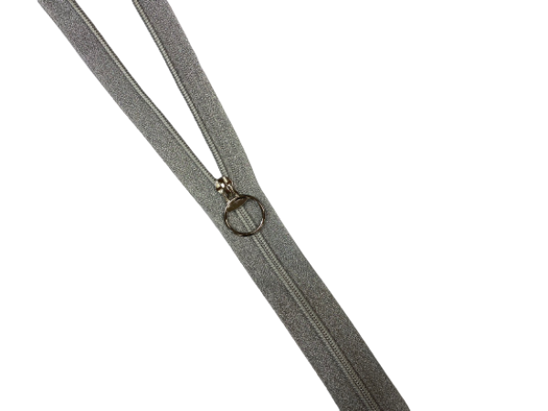 Молния спираль Т5 декоративная металлизированная серебро 55см цв.серебро(в упак.50шт)