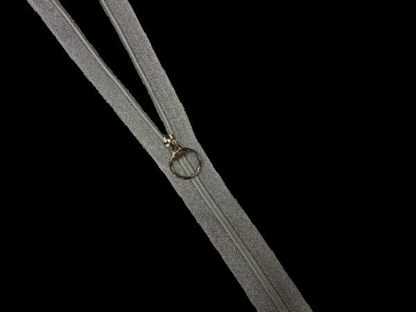 Молния спираль Т5 декоративная металлизированная серебро 75см цв.серебро(в упак.50шт)
