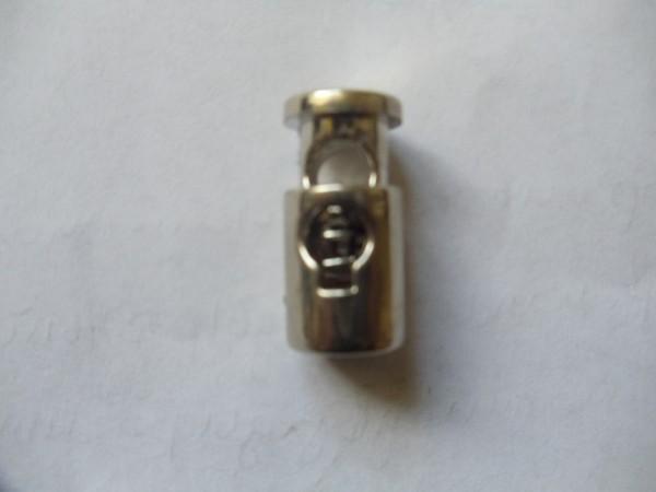 317TR Цилиндр металлизированный пластиковый круглый 22мм цв.ч.никель(в упак.1000шт)