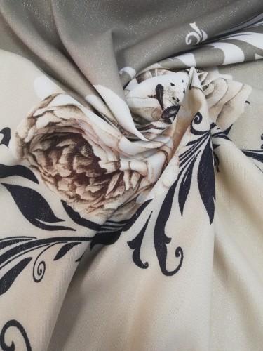 Jakar DF-145281/V-1 Ткань нарядная шир.150см с принтом цв.бежевый(в рул.100м)