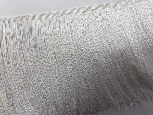 Бахрома шелковая 16см цв.белый(упак.25м)