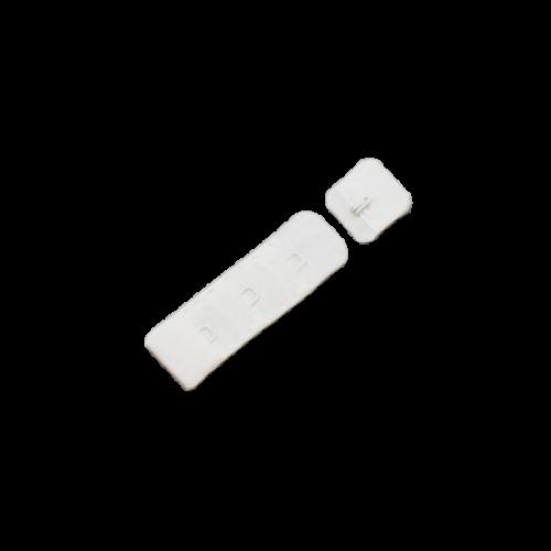 Бельевые застежки на ткани 3х1 19мм цв.белый(в упак.100шт)