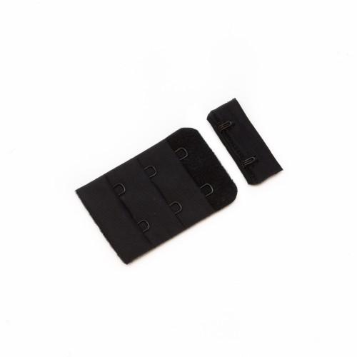 Бельевые застежки на ткани 3х2 38мм цв.черный(в упак.100шт)