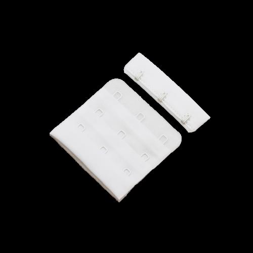 Бельевые застежки на ткани 3х3 57мм цв.белый(в упак.100шт)