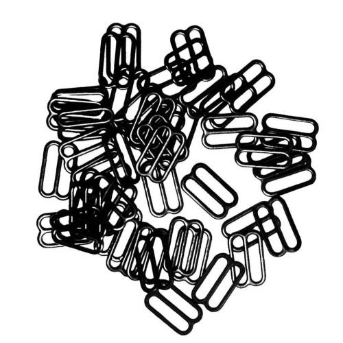 Бельевая рамка регулировочная металлическая 12мм цв.черный(в упак.2000шт)