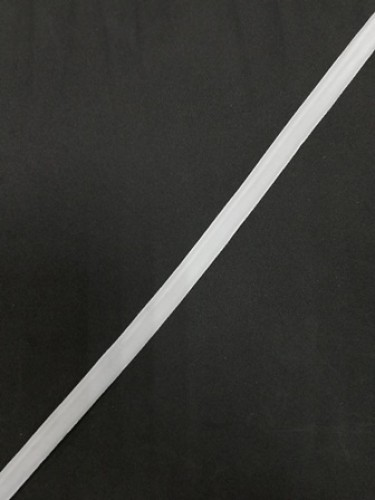 Бархатная лента 10мм цв.белый(в рул.200м)