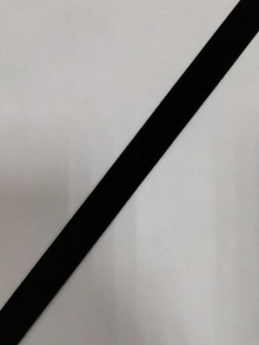 Бархатная лента 20мм цв.черный(в рул.25м)