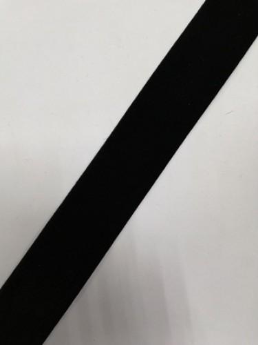 Бархатная лента 38мм цв.черный(в рул.25м)