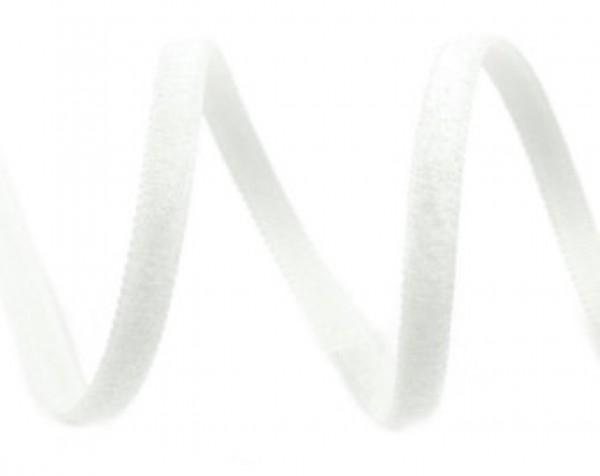 Бархатная лента 05мм цв.белый(в рул.200м)