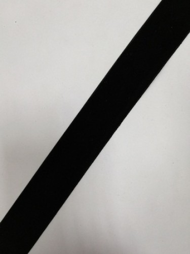 Бархатная лента 30мм цв.черный(в рул.50м)