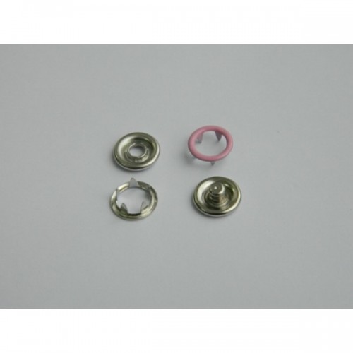 134 Кнопка нержавеющая трикотажная кольцевая 09,5мм цв.св.розовый(в упак.1440шт)