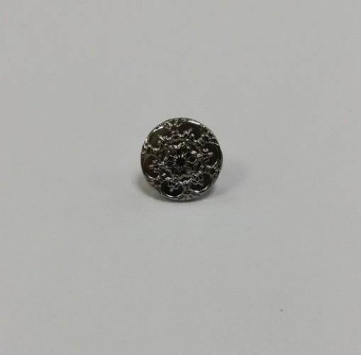 10 Джинсовые пуговицы литые 17мм цв.никель(в упак.100шт)