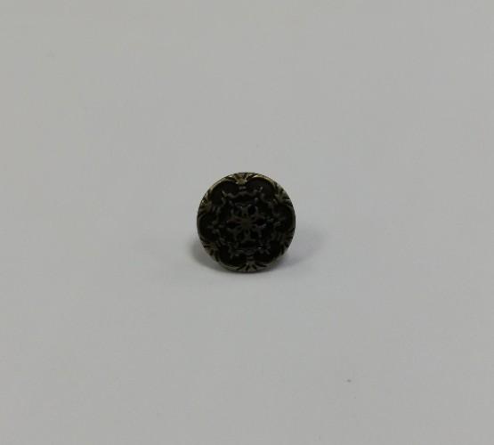 10 Джинсовые пуговицы литые 17мм цв.антик(в упак.100шт)