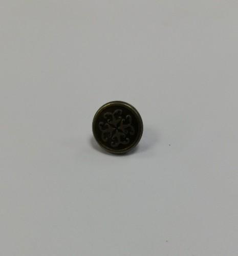 13 Джинсовые пуговицы литые 17мм цв.антик(в упак.100шт)