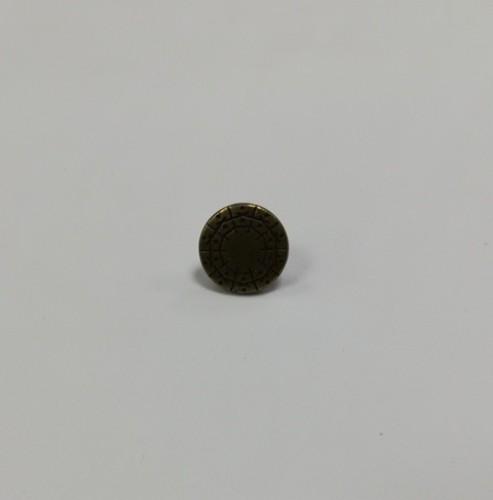 16 Джинсовые пуговицы литые 17мм цв.антик(в упак.100шт)