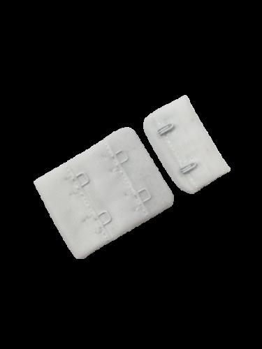 Бельевые застежки на ткани 2х2 40мм цв.белый(в упак.100шт)