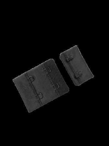 Бельевые застежки на ткани 2х2 40мм цв.черный(в упак.100шт)