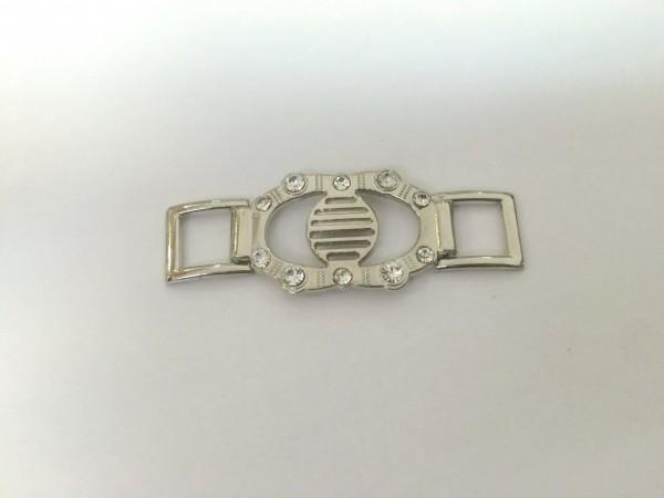 2325TMR Пряжка декоративная цв.никель(в упак.100шт)