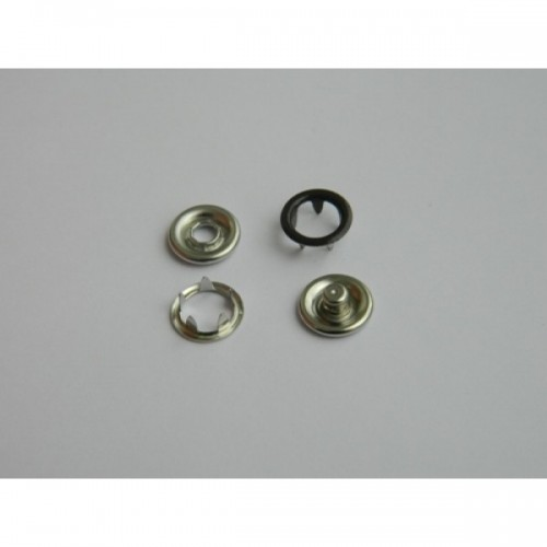 301 Кнопка нержавеющая трикотажная кольцевая 09,5мм цв.шоколадный(в упак.1440шт)