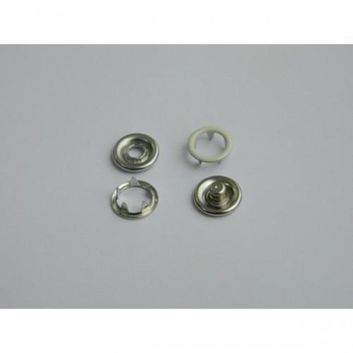 306 Кнопка нержавеющая трикотажная кольцевая 09,5мм цв.молочный(в упак.1440шт)