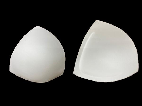 L Чашки корсетные цв.белый треугольник(в упак.30пар)