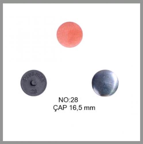 Заготовка для обтяжки пуговиц на пластиковой ножке №28 18мм цв.черный(в упак.500шт)