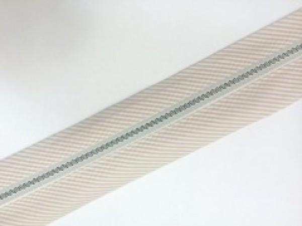 №08 Корсажная лента цв.белый с бежевой полоской(в рул.62м)