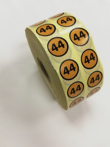 44 Размерники на самоклеящейся бумаге цв.желтый(в рул.5000шт)