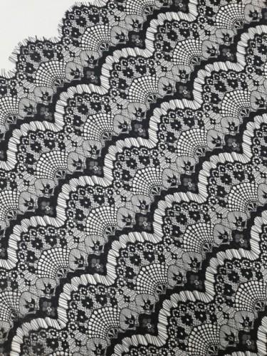 8012А Кружевное полотно-реснички шир.1,5м цв.черный(в рул.240м)