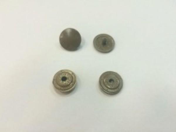 Кнопка пластиковая 13мм цв.коричневый(в упак.1000шт)