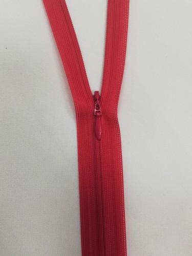 148 Молния потайная Т3 50см цв.красный(в упак.100шт)