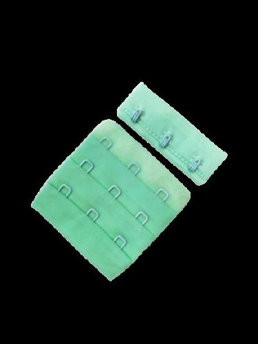 Бельевые застежки на ткани 3х3 50мм цв.бирюза(в упак.100шт)
