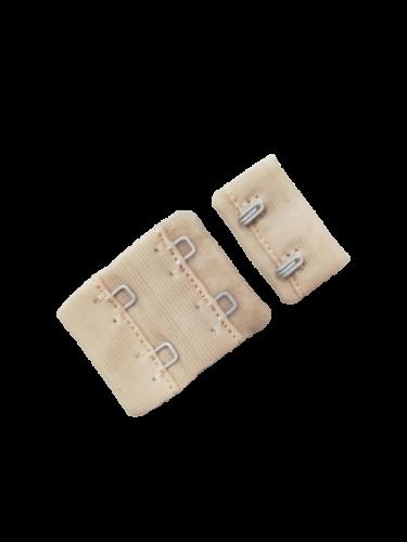 Бельевые застежки на ткани 2х2 40мм цв.бежевый(в упак.100шт)