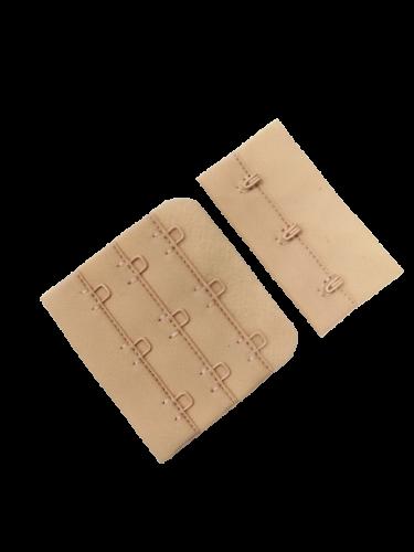 Бельевые застежки на ткани 3х3 50мм цв.бежевый(в упак.100шт)