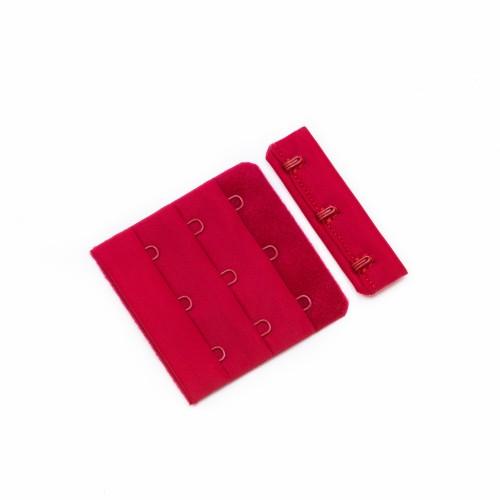 Бельевые застежки на ткани 3х3 50мм цв.красный(в упак.100шт)