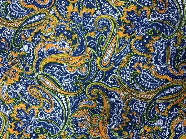 2017-1 Ткань подкладочная огурчики 190Т 150см цв.василек(в рул.100м)