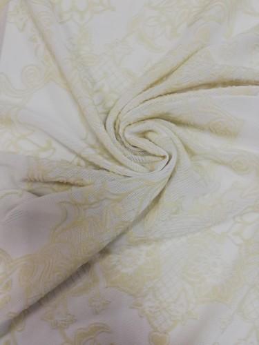SC-FK004 Ткань трикотажная на сетке шир.150см цв.белый