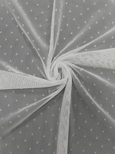 SC171232 Ткань трикотажная на сетке с мушкой шир.150см цв.белый