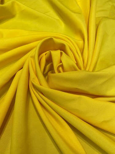 Габардин 230г/м 100%ПЭ цв.желтый(в рул.50м)