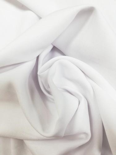 05-4312 Ткань хлопок сатин однотонный 80%хлопок 20%полиэстер 150см цв.белый(в рул.100м)
