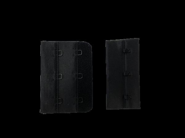Бельевые застежки на ткани 2х3 60мм цв.черный(в упак.100шт)