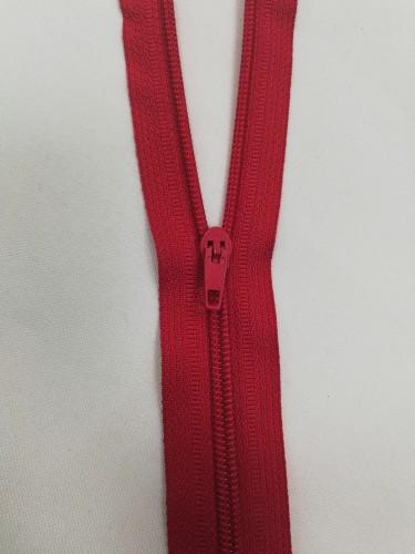 Молния спираль Т5 40см цв.№148 красный(в упак.50шт)