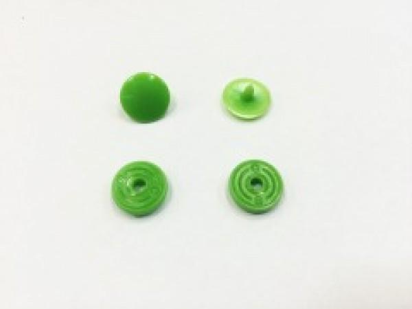 Кнопка пластиковая 10,5мм цв.зеленый(в упак.1000шт)