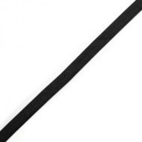 Резинка вязаная стандартная 010мм цв.черный(в рул.200м)