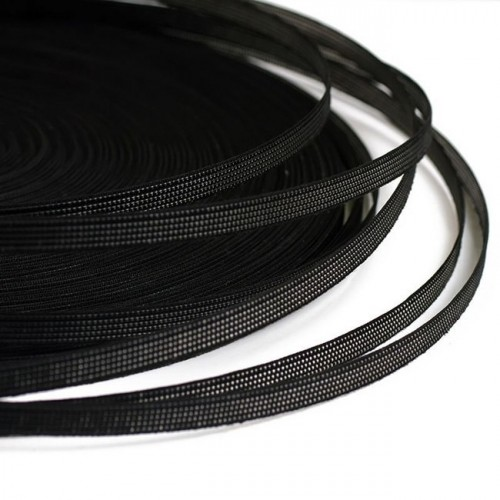 Регилин жесткий 07мм цв.черный(в рул.50м)