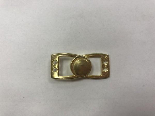 Кнопка пришивная нержавеющая Alfa10мм цв.золото(в упак.100шт)